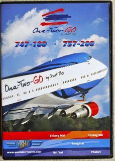Planes Orient Thai Boeing 747 100 757 200 Cockpit Video DVD