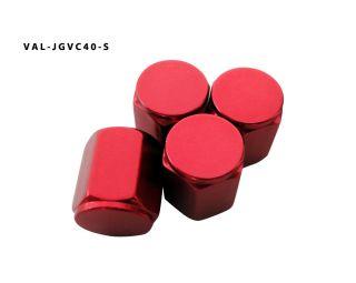 AGT Red Aluminum Valve Caps Tire Cap Stem (Pack of 4) For Cars Bikes