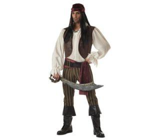 Rogue Jack Pirate Buccaneer Men Adult Halloween Costume L