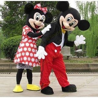 MICKEY AND MINNIE MOUSE COSTUME MASCOT ADULT CARTOON COSTUME PARTY