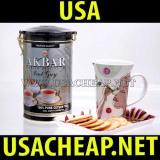 Akbar Earl Grey Black Tea Bergamot Ceylon Tea Premium 450 G 15 75 oz 1