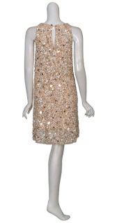 Aidan Mattox Glittery Sequins Trapeze Style Dress 4 New