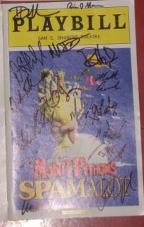 Signed Spamalot Playbill Clay Aiken Etc