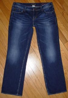 Silver Aiko Flood Jeans Low Rise Straight Leg Ankle Length 31 x 28