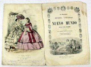 La Caprochosa Nuevo Mundo 1858 3 Aquatint Engravings Parisian Spanish
