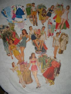 116 Paper Dolls Clothes Teen Starlet Air Force Doll Most 1940S