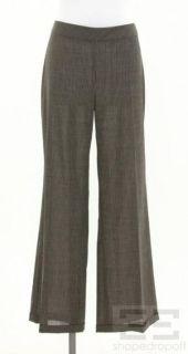 AKRIS Punto Grey Pinstrip Wool Trouser Pants Size US 10