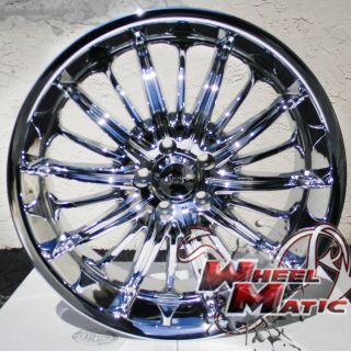 24 Chrome Akuza 761 Rims Tires Tahoe Escalade Colora