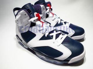 Nike Air Jordan VI 6 Retro Olympic 2012 8 13 White Navy Red Black