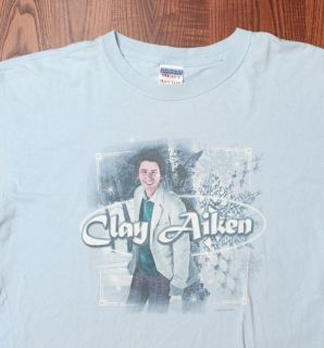 Clay Aiken 2005 Joyful Noise American Idol Tour Authentic Blue Large T
