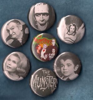 of Pins Buttons Badges TV Show Grandpa Al Lewis Goth Classic