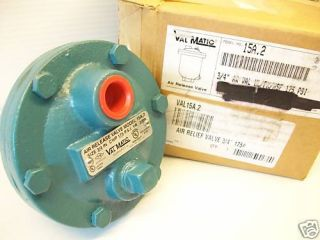 New Val Matic 15A 2 3 4 Air Release Relief Valve Valmatic