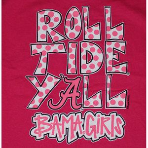 Alabama Crimson Tide Football T Shirts Bama Girls Roll Tide Yall Color