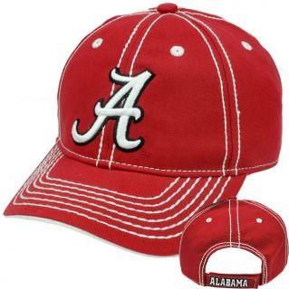 NCAA Alabama Crimson Tide Semi Constructed Hat Cap Platinum Clean Up