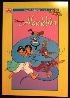 disney s aladdin sticker book 1993 unused