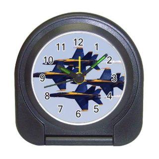 navy fighter plane blue angels travel alarm clock travel alarm clock