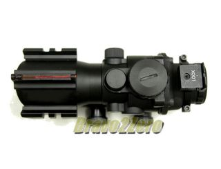Aim Style 4x32 Fiber Optic RGB Crosshair Dual Illuminated Rifle Scope
