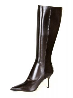 Jimmy Choo Womens Iron Kid Leather Knee High Heel Boots $965 New