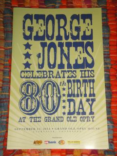 JONES 80th BIRTHDAY GRAND OLE OPRY SCHEDULE 9 13 11 w ALAN JACKSON ETC