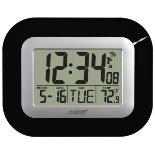 La Crosse Technology Atomic Digital Wall Clock with Indoor Temp Date