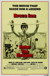 Movie Poster 27x40 D Bruce Lee John Saxon Jim Kelly Ahna Capri