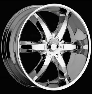 22 inch Akuza Lucuna Chrome Wheels Rims 5x115 15 Rwd