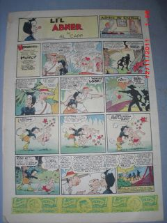 Lil Abner Sunday by Al Capp from 4 24 1938 Tabloid Size