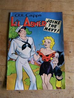 1950 Al Capps Lil Abner Joins The Navy Comic Book Naval Recruiting
