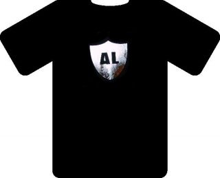 Al Davis Oakland Raiders T Shirt Honoring The Memory Silver Black