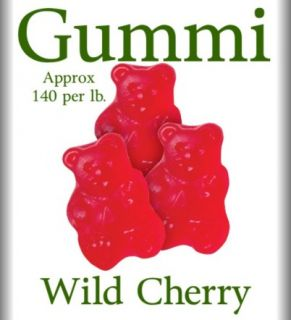 Albanese Red Wild Cherry Gummy Bears 6 lbs Gummi Bears