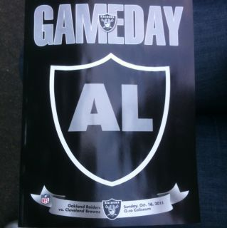Oakland Raiders Game Day Tribute Program Al Davis R I P