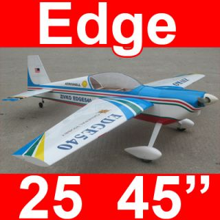 Edge 540 45 Nitro Gas Electric R C RC Airplane Plane Blue