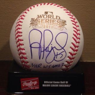 Albert Pujols 2011 World Series Autographed baseball GAI signed auto