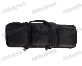 Airsoft Tactical Dual AEG Rifle Carrying Case Bag 85CM Black