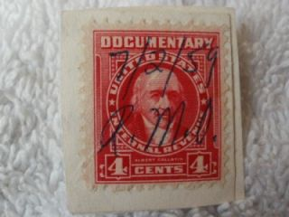 US Documentary Tax Revenue Stamps 1 & 4 Cents Albert Gallatin