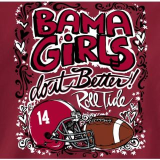 Alabama Crimson Tide Football T Shirts Bama Girls do It Better Roll