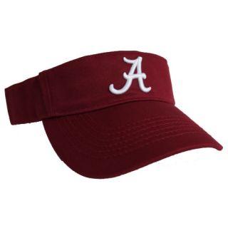 alabama crimson tide visor made by top of the world 100 % cotton