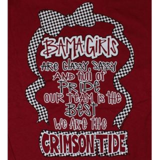 Alabama Crimson Tide Football T Shirts Bama Girls Classy Sassy and