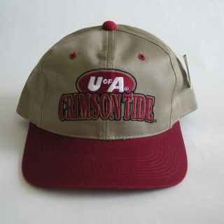 New Alabama Crimson Tide U of A Rare Vintage Snapback Cap Hats 90s by