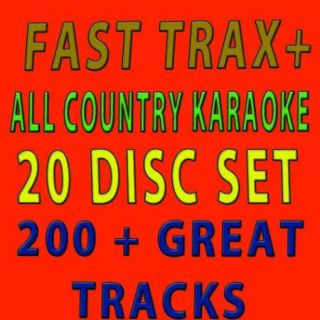 New Fast Trax All Country Hottest Tracks 2011 20 Disc Karaoke Country