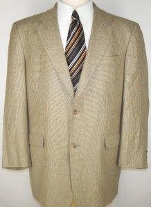 44R Austin Reed Black Brown Silk Wool Tweed Sport Coat Suit Blazer