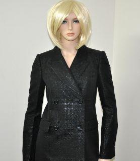 Burberry $1 295 Metallic Nova Check Shimmery Trench Coat Jacket Blazer