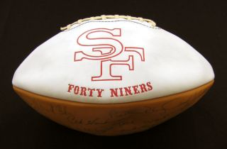 1970 San Francisco 49ers Team Signed Football 44 Sigs