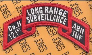 Co H 121 LRS Airborne Ranger Inf Gaarng Scroll Patch