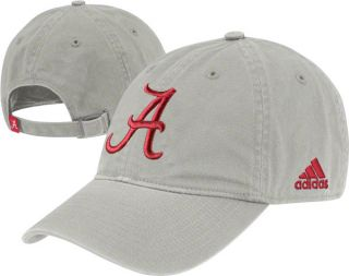 Alabama Crimson Tide Adidas Grey Slouch Adjustable Hat