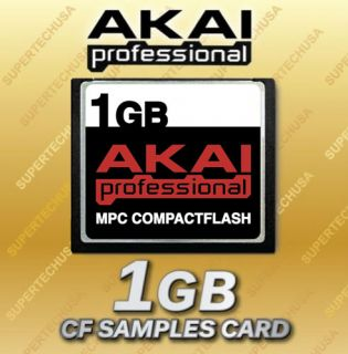 1GB AKAI MPC 500 Compact Flash CF Memory Card 1 GIG Upgrade +Samples