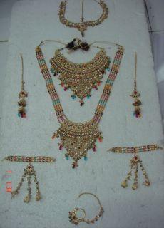 Gold Polish Polki Bridal Wedding Necklace Jodha AKBAR17