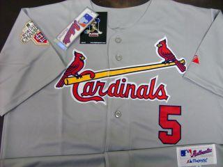 Albert Pujols St Louis Cardinals 5 2011 w s Champion Patch Road Jersey