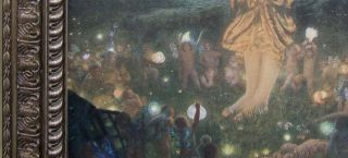 Midsummers Eve Hughes Huge Frame Custom Canvas Replica