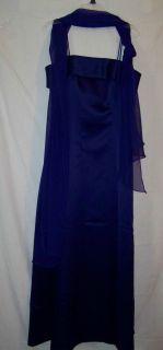 Alex Long purple formal brides maid dress gown size 12 LN ♥